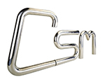 CSM logo - the letters are formed from tube which has been bent in a bending machine