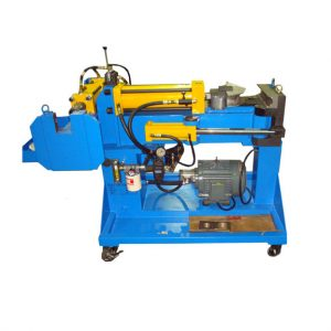 This is an image of a Radius Benders Press Bender PB75 an exhaust pipe bender which is suitable for small job runs.