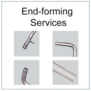 Image of end forming service. We can swage, expand or bead products.