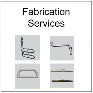 This is an image of the front tile showing examples of fabrication that Radius Benders have done. Pulley systems, Cable riser holders, floats for concreting and pipes.
