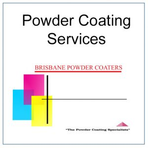 "Brisbane Powder Coaters logo with the words ""Powder Coating Services""."