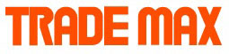 Image of the TradeMax Logo. Orange capatalised writing on a white background with the words TRADEMAX.